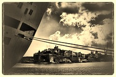 Malta.- (ancama_99(toni)) Tags: cruise sea summer vacation yellow sepia clouds 35mm gold nikon harbour malta wallaby vacaciones 2012 valletta crucero lavalletta 10favs 10faves 25favs 25faves ltytr1 lavaleta d7000 nikond7000 blinkagain uploaded:by=flickrmobile flickriosapp:filter=wallaby