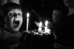 three (I.Dostl) Tags: birthday blackandwhite bw white 3 black home cake fire three blackwhite candle year bn years cb blackandwhiteonly