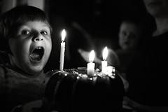three (I.Dostál) Tags: birthday blackandwhite bw white 3 black home cake fire three blackwhite candle year bn years cb blackandwhiteonly
