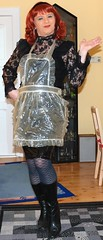 Birgit013283 (Birgit Bach) Tags: ruffles shiny feminine apron plastic seethrough pinafore pvc pinny frilly tablier domesticated glnzend saucey zoccola tightskirt sissymaid schrze mucama schort puttanella plasticapron frillybibbed bibbedapron sissymaidsapron schurze housewifeapron playapron rockeng