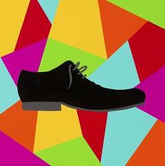 Magic charm Shoe. 30 x 30 cm. Acrylic on linen. 2012