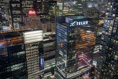 Telus City (tomms) Tags: city urban toronto night lights downtown royalyork metropolis core telus
