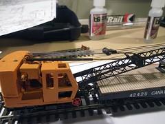Crane Rigging (Stephen Gardiner) Tags: toronto ontario pentax crane trains 187 railways 2012 modelrailroad hoscale 1645 pyke quebecave k20d trha