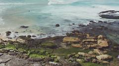 Bondi (Winnie Liu // photography + art) Tags: ocean travel blue sea sky cliff film beach nature bondi rock canon photography liu sydney scenic wave australia scene tourist winnie clff