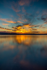 The magic behind (MaxGag) Tags: canada reflection bird water clouds sunrise early quebec saguenay planetearth labaie beforethesun