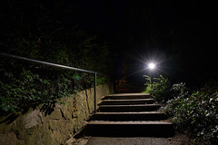 Lighting up the dark (Budoka Photography) Tags: nightphoto night lightatnight light lightsatnight stairs canonllens sonyalphailce7rm2