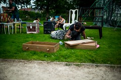 Upcycling furniture (jeremybagel) Tags: walthamstow garden party e17 vintage furniture