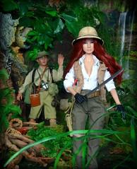 Explorer Giselle (MiskatonicNick) Tags: jungle diorama explorer giselle fashionroyalty maisoui integritytoys nuface