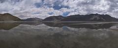 Reflections of Pangong Tso Lake (Ravikanth K) Tags: 500px panorama ultrawide leh ladakh mountains nature outdoor jammuandkashmir clouds pangong tso lake reflection hills still