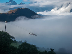234 (Perry McKenna) Tags: alpes alpescrossing lagranderoutedesalpes clouds gondolas morning alpedhuez