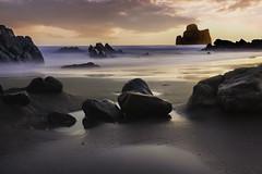 Sunset of Masua (Alessandro Vallainc) Tags: landscape sea sunset beach italy sardinia summer seascape longexposure seaside mediterranean pancake lowlight canon550d mer sardegna 24mm bigstopper nd flter 10 stop 10stop