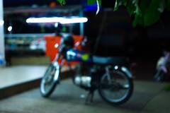 IMG_1036_1 (pavel.milkin) Tags: thailand phuket kathu moto motobike bike caferacer night leaves tree gogreen green travel canon canon550d 550d helios helioslens helios442 442 old colour endlesssummer bokeh bokehlicious light parking