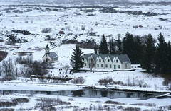 Thingvellir National Park (janroles) Tags: iceland thingvellirnationalpark scenic church winter snowing outside flickr canoneos400d park