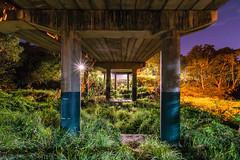 Under the Bridge (stephenk1977) Tags: australia queensland qld brisbane alderley kedron brook bridge light night nikon d3300