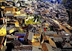 Views on Girona from the Passeig de la Muralla (jackfre 2) Tags: catalunya spain girona city views walls walledcity passeigdelamuralla houses roofs