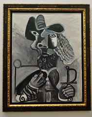 """""""Mousquetaire  l'pe, 1972, Pablo Picasso (881-1973), Muse Ludwig, Cologne, Rhnanie du Nord-Westphalie, Allemagne. (byb64) Tags: museludwig peterludwig museumludwig cologne kln colonia rhnaniedunordwestphalie nordrheinwestfalen northrhinewestphalia renaniadelnortewestfalia renaniasettentrionalevestfalia rhnanie rhineland rheinland renania ville allemagne deutschland germany germania alemania europe europa eu ue rfa nrw stadt ciudad town citta city muse museum museo artmoderne xxe 20th artcontemporain picasso pablopicasso mousquetairelpe 1972 monochrome nb"""
