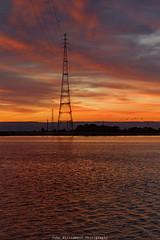 Pylon (johnwilliamson4) Tags: adelaide clouds outdoor portriver southaustralia sunrise water australia