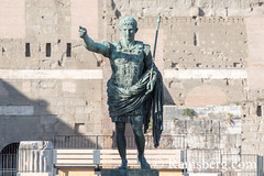Rome, Italy- Bronze statue of Julius Caesar in the city of Rome (Remsberg Photos) Tags: europe italy rome ancient ancientcivilization roman architecture buitstructure tourist sightseeing photography history historical internationallandmark capitolcity romaprovince ancientrome art sculpture juliuscaesar statue ita