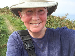 Round Wales Walk 42 - Hot and Bothered! (Nikki & Tom) Tags: walescoastpath ceredigion wales uk path track cliffs nikki hot