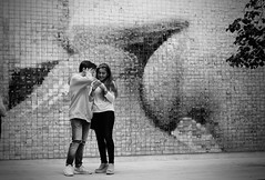 kiss (reto.aerni) Tags: kiss barcelona bw youth love street