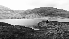 Loch Arklet (brightondj - getting the most from a cheap compact) Tags: inversnaid trossachs scotland thirdwalk bw locharklet hut water landscape summer2016 holiday summerholiday uk britain ukholiday