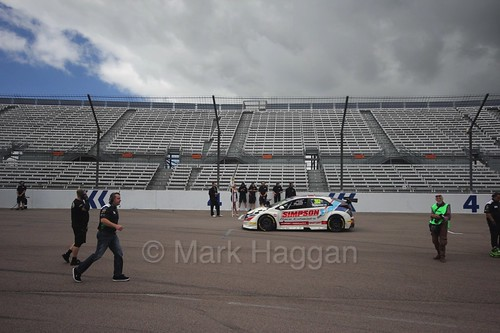 Matt Simpson on the grid at Rockingham, August 2016