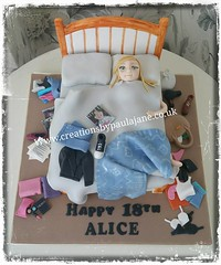 Bedroom Birthday Cake (Creations By Paula Jane) Tags: birthday cake 18th bed bedroom messy girls clutter