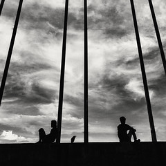 unknown... (_MaK_) Tags: street silhouette people crow line candid monochrome bw dhaka bangladesh