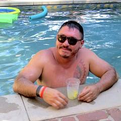 IMG_7897 (danimaniacs) Tags: party swimmingpool shirtless man guy sexy hot bear beard scruff tattoo hairy mansolo