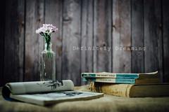 Books & Flowers ~ again! (DefinitelyDreaming) Tags: vintagebooks oldbooks reading books stilllife flowers vaseofflowers sonya99