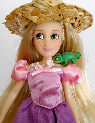 Rapunzel (DollyCheeseCake) Tags: disney store mini doll pascal tangled