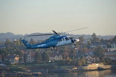 Morning Landing (Neal D) Tags: bc victoria helicopter helijet sikorsky s76a cghjj