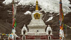 Tibet, Buddist stupa at the snowy mountain (China), 06-2016, 44 (Vlad Meytin, vladsm.com) (Vlad Meytin | Instagram: vmwelt) Tags: chengguan china khimporiumco meytin tibet tibetan vladmeytin architecture art artgallery artists artphoto artworld asia buddhism carlzeiss chinese decoration fe5518 gallery highaltitude local mountains photography photographyart pictures religion rocks shrine snow sony sonya7 sonyalpha structure stupa symbols traditional vladsm vladsmcom vmwelt yellow zeiss