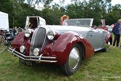 Delahaye 135 Figoni & Falaschi 1948 (Monde-Auto Passion Photos) Tags: auto automobile delahaye 135m cabriolet rouge gris france 48h montargis villemandeur domaine lisledon