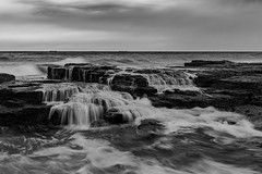 Coledale seafalls (David Marriott - Sydney) Tags: coledale newsouthwales australia au waterfall seascape bw sunrise clouds water ocean