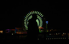 Pier lights Photography (ApolloDelmonte) Tags: silhouette santamonica pier coast ocean sea westcoast pacific dark lights ferriswheel losangeles la california night midnight