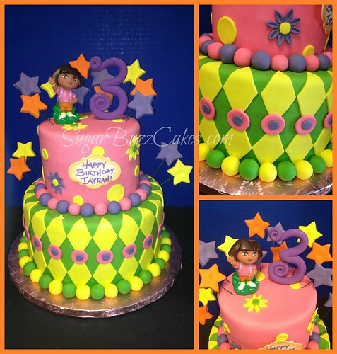 Astonishing Dora The Explorer Birthday Cake A Photo On Flickriver Personalised Birthday Cards Veneteletsinfo