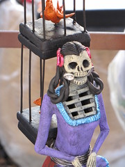 Day of the Dead Decoration (shaire productions) Tags: holiday inspiration art dayofthedead skulls skeleton skull photo artwork colorful image crafts traditional mexican photograph american diadelosmuertos tradition skeletal