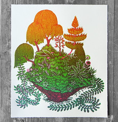 "The Four Elements: Earth / ""CLOD"" (Tugboat Printshop) Tags: print printmaking blockprint th woodcut woodblock reliefprint thefourelements woodcutprint theelements originalprints paulroden tugboatprintshop contemporaryprintmaking traditionalprintmaking valerielueth woodcutprintmaking pittsburghartists woodblockprintmaking pittsburghprintmaking affordableartprints colorblockprint colorwoodcutprints colorwoodcutprintsforsale originalwoodcuts originalreliefprint airearthwaterfire"