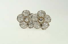 18K White Gold Diamond Flower Earrings (alexandcompanyjewelers) Tags: wedding band 18k citrine whitegold goldnecklace