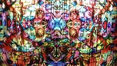 Van Nutt's Psychedelic Lightshow (micky the pixel) Tags: color art digital germany deutschland kunst illumination installation psychedelic lightshow farbe saarland mtp neunkirchen vannutt