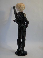 Sergeant Calhoun LE 17'' Doll - First Look - Deboxed - On Doll Stand - Full Left Rear View (drj1828) Tags: stand doll personal calhoun limitededition sgt disneystore sergeant 17inch deboxed wreckitralph