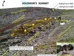 Summit Photo With Cartoon Oct 1 2012 (AlphaPortfolios) Tags: gold yukon mineral exploration goldstrike mineralexploration goldexploration