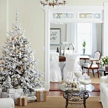 arbol de navidad blanco decoracion