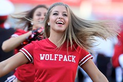 Wolfpack (Brian Utesch (shutterBRI)) Tags: red woman usa game smile field america canon hair dance football stadium american cheer ncaa ncsu wakeforest 2012 wolfpack ncstate chearleader carterfinley carterfinleystadium shutterbri brianutesch