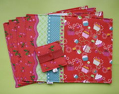 Jogo americano (Meia Tigela flickr) Tags: handmade artesanato artesanal craft cupcake decoração jogo cereja americano tecido promoção estampado sorteio