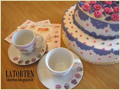 Torta di Compleanno - Birthday Cake (LaTORTen) Tags: birthday flowers cake daisy fiori compleanno torte margherite pdz pastadizucchero