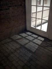 window light (Mr.  Mark) Tags: door light geometric window lines square photo glow bricks stock markboucher