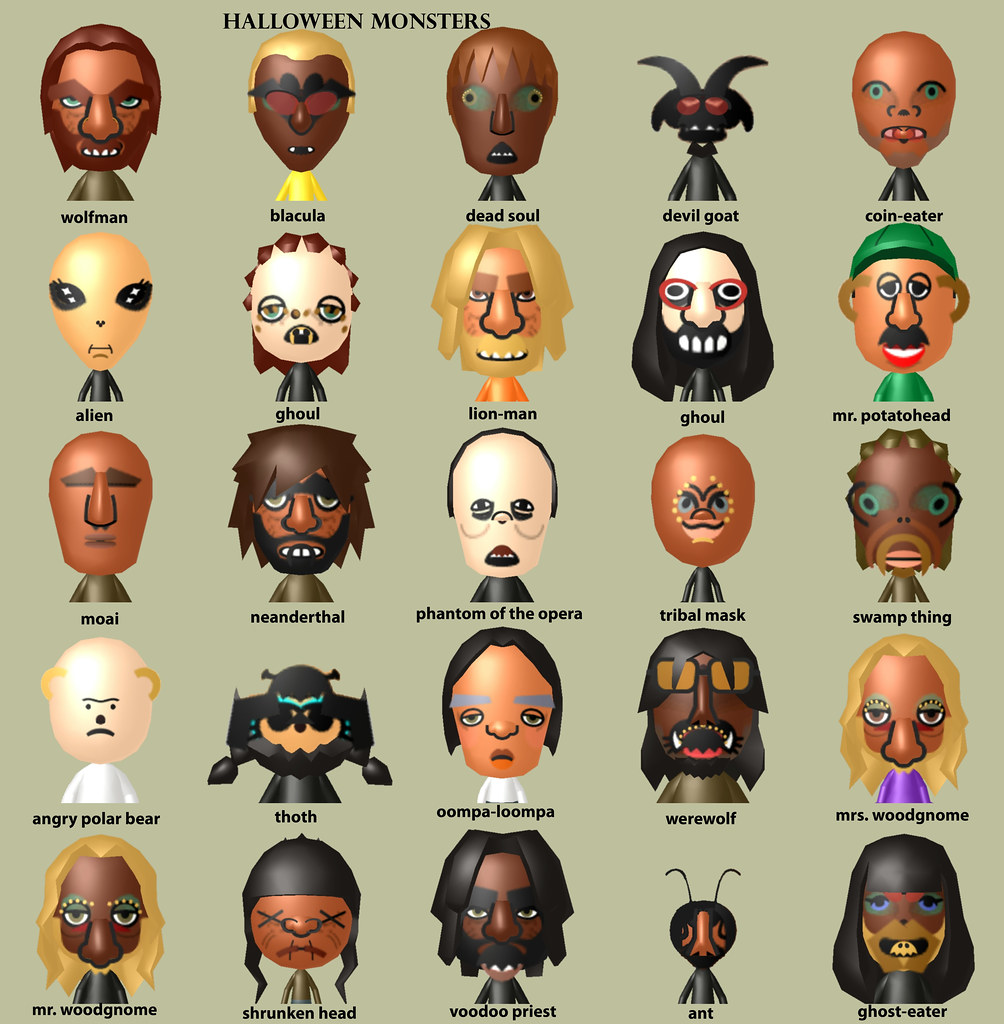 Famous Mii Characters & QR Codes for your Nintendo Wii ...