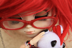 Red is life ~ (Evoli ) Tags: red glasses outfit doll dress queen planning wig groove pullip lunatic jun obitsu